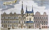 Hotel de Ville de Cambrai en 1743 Rare gravure sur Cuivre ancienne