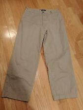 Men's Flat-Front 100% Cotton chaps  Pants Sz 32X30 Khaki tan