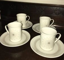 Royal Doulton Morning Star Coffee Expresso Cups / cans & Saucers Set Of x4