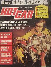 Hot Car magazine 07/1976 featuring Vauxhall Cavalier, Opel Manta