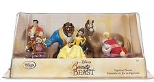Disney Store Beauty and the Beast Figurine Playset 6 Piece Cake Toppers