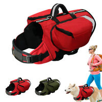 Pet Dog Outdoor Travel Hiking Camping Saddle Bag Backpack Harness Back Pack
