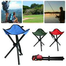 Foldable Tripod Chairs Ultralight Outdoor Fishing BBQ Triangle Seat Stool Chair
