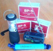 LIFESTRAW Water Filter + SOLAR RADIO + LANTERN + BP-5 3xRATION HIKING MRE PACK|