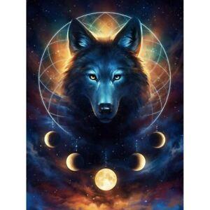5D Full Drill Wolf Diamond Painting Embroidery Art DIY Cross Stitch Kit Mural
