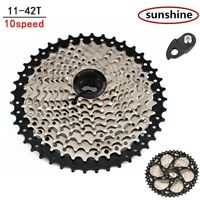 Sunshine 10 Speed 11-42t MTB Bike Cassette 10S Mountain Cycling Flywheel US