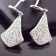 YF101 GENUINE HALLMARKED 925 DIAMOND SIMULATED STERLING SILVER STUD DROP EARRING