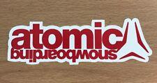 Atomic Snowboard Sticker - Ski Snowboard Snow Equipment Atomic Brand X Games
