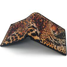 Stingray Genuine Leather Wallet For Men Bi Fold Tiger Print