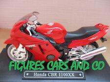 MOTO  1/18  HONDA CBR 1100 XX ROUGE  MAJORETTE SOLIDO