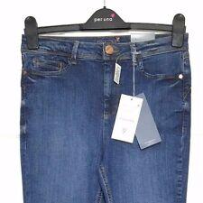 M&S Marks s10 Reg Med PerUna Roma Blue Kick Flare Sculpt Lift Stretch Jeans BNWT