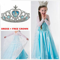 Kids -Girls -Dresses Elsa Frozen dress costume Princess Anna party dresses 2-8Y