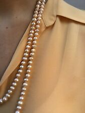 Beautiful Round Cultured Pink Japanese Akoya Pearl Necklace