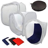 """Photo Studio 80x80cm 32"""" Shooting Tent Light Cube Box +4 Backdrops SoftBox Kit"""
