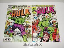 Incredible Hulk #278 279 Comic Lot Marvel 1982 Wolverine X-Men Avengers Buscema