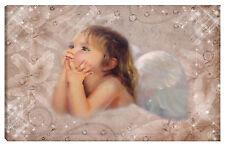 Quadro ANGELO 100x60 madonna paradiso eden cristo gesù stelle ali nuvola cielo