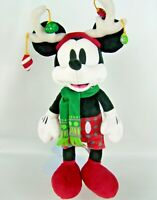 Disney Parks Mickey Mouse Holiday Christmas Plush Reindeer Antlers 14 Inch