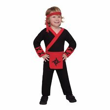 Lil' Ninja Red, Black Toddler Halloween Costume Jumpsuit Only 4-6 Years #R30