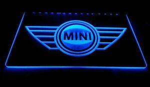 Mini cooper Garage LED Neon sign night Light Man Cave Decor Wall Car Logo Red