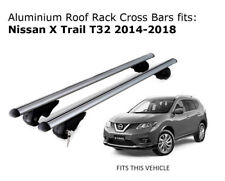 Aluminium Roof Rack Cross Bars fits Nissan X Trail T32 with roof rails 2014-2018