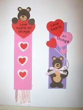 Teddy Bear Bookmark Craft Kit Love Bears Valentine Heart Ribbon ABCraft