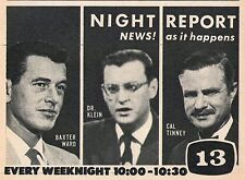 1959 KCOP tv ad ~ BAXTER WARD/DR.KLEIN,CAL TINNEY/News in Los Angeles,California