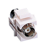 New (50) BNC Keystone Jacks - White
