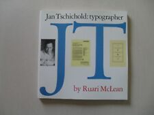 Jan Tschichold: Typographer by Ruari McLean - David Godine, 1st Soft Cover, 1990