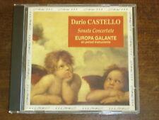 DARIO CASTELLO Sonate concertate- Europa Galante- CD