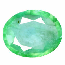 2.06 Carat 9x7.0 Natural Green COLUMBIAN EMERALD Stone for Jewelry Setting Oval