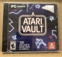 Atari Vault - 100 Arcade & 2600 CLASSICS - Games PC DVD-ROM - New - L