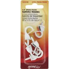 """100 Pk Hillman Anchor Wire 7/8"""" White Christmas Lights Safety Hook 4/Pk 122238"""