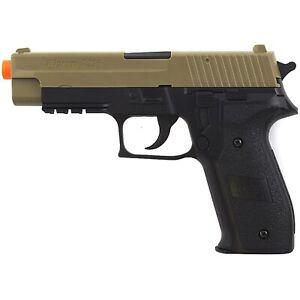 330 FPS SIG SAUER P226 LICENSED TAN AIRSOFT SPRING PISTOL HAND GUN w/ 6mm BB BBs