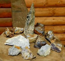 12 Gold & Silver Ore HUNKS Broken from the Mother Lode 58oz  #1406 Shop Clean Up