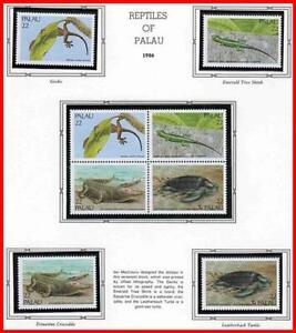 👉 PALAU 1986 endemic REPTILES MNH ANIMALS, CROCODILE, TURTLES, LIZARDS
