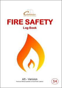 FIRE SAFETY LOG BOOK (A5/20 Pages) F054