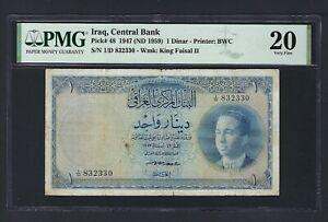 Iraq- One Dinar 1947(ND1959) P48 Very Fine