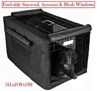 600D Dog Crate Pet Cage Kennel COVER with foldable mesh windows 30L19W21H inches