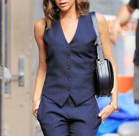 Women Formal Suit Vest Coat Jacket Sleeveless Waistcoat Office Tuxedo Work Gilet