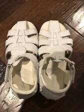 Boys White Easter Sandals 9 1/2M Solar Soles