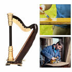 Mini Harp Model Instrument Ornament with Box Home Office Table Decoration Gift