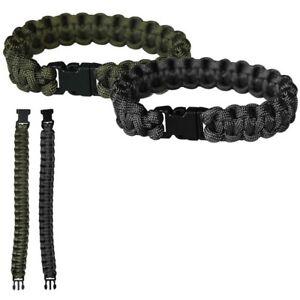 PARACORD Survival Armband Bracelet Trekking Miltär Überlebens Para-Band 550 NEU