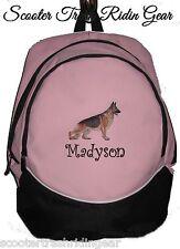 GERMAN SHEPHERD Dog Pink Backpack school book bag  PERSONALIZED monogram NEW