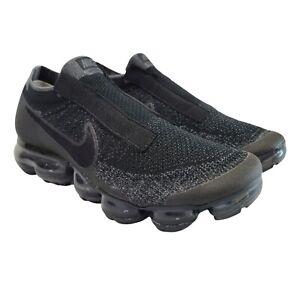 Nike Air VaporMax SE Laceless Triple Black Mens Shoes AQ0581-001 Size 9