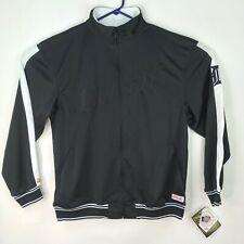 Detroit Tigers MLB Stitches Mens Large Full Zip Black Sweatshirt Jacket NWT