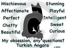 Turkish Angora Cat My Obsession, Any Questions? T-shirt Choice size and color