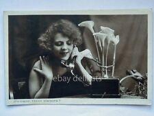 INNAMORATI donna lady TELEFONO telephone phone vecchia cartolina