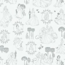 Camelot Disney Princesses Stone Toile Character Cotton Fabric Yardage        I3