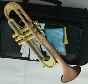 Professional Red Brass Trumpet Bb Monel 132.00mm Bell