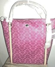 NEW w TAGS Coach Peyton Signature Convertible LARGE TOTE F25881 PINK BORDEAUX